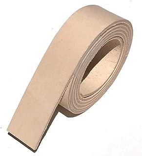 Dangerous Threads Natural Veg Tan 8/9 Ounce Leather Belt Blank, Extra Long Strip 1.5