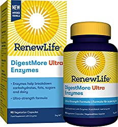Ultra-strength enzyme formula: enzymes help break down carbohydrates, fats, sugars and dairy Derived from natural fermentation - digestmore ultra enzymes contain a blend of 15 naturally derived enzymes Quality for quality, purity and potency through ...