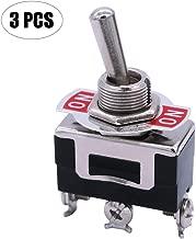 mxuteuk 3pcs Heavy Duty Rocker Toggle Switch 16A 250V 20A 125V SPDT ON/ON 3 Terminal 2 Position, 2 Years Warranty Ten-1121