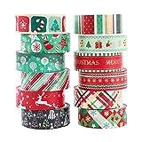 Navidad Washi tape set 12 Cintas adhesivas Rainbow Kawaii Decorativo de Masking Tape Washi...