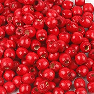 3000/unidades Negras redondas perlas de madera agujero 1,5/mm 4/mm