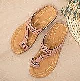LONGJIQ Sandalias Premium Ortopedic para Mujeres Vintage Vintage Slippers Flip Flip Flobs Ladies Shoes Plus-Rosado_42 i Fantastic