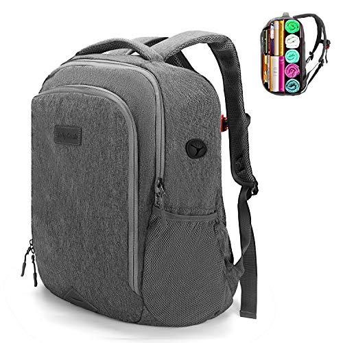 Jelly Comb Schulrucksack Backpack, Laptop Rucksack für 15,6 Zoll Notebook, Multifunktionsrucksack wasserdichte Daypack für Schule Business/Wandern/Reisen/Camping/Männer/Frauen - Grau