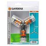 Gardena Abzweig-Satz für 13 mm (1/2 Zoll)- und 15 mm (5/8 Zoll)-Wasserschläuche: Wasserdichter Abzweig-Verbinder für eine einfache Wasserteilung (18287-20)