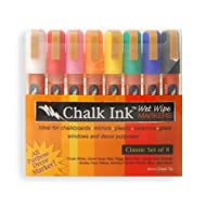 Chalk Ink 6mmClassic8WW 6mm Classic Wet Wipe Markers, 8-Pack