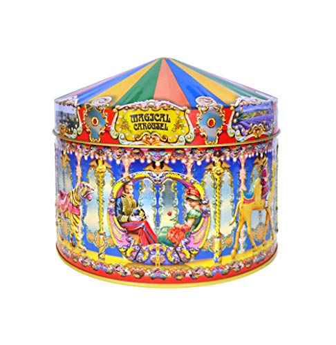Retro Carousel Tin by Chuurchill's Confectionary filled with fudge and toffees.