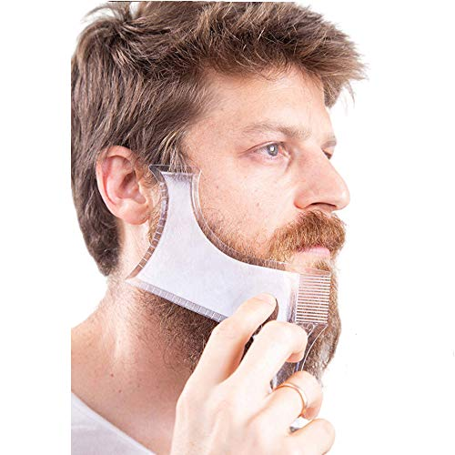Beard Shaping, Beard Shaping Tool,with inbuilt Comb for Perfect line up & Edging For Men's Jaw Cheek/Neck Line,Styling Tool All in One Shaper for Men for Men Jaw Cheek Neck Line Symmetric