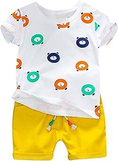 Hot!!Baby Print Tshirt MS-SM Newborn Infant Kids Fashion Cute Short Sleeve O-neck Bear Pattern Cotton Tops+Short Outfits S...