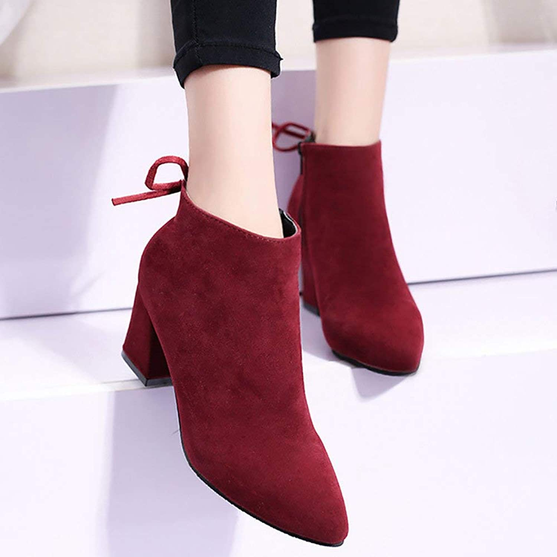 67c1490fd9fec Fuxitoggo Weibliche Stiefel Winter Nubukleder High Heels Warm ...