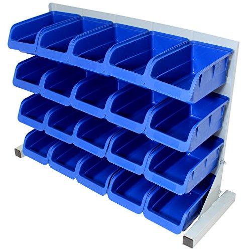 Hardcastle Contenitore a bocca di lupo in plastica blu autoportante da 20 elementi