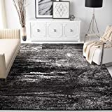 Safavieh Adirondack Collection ADR112A Silver and Black Modern Abstract Area Rug (5'1' x 7'6')