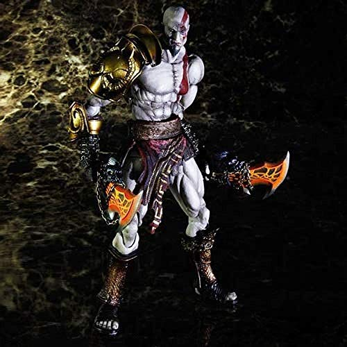 WXxiaowu God of War III Game Character Model Kratos Oorlog God Spartaanse Half God Chaos Mes Lichaam Verplaatsbare Gezamenlijke Riem Verwisselbare Onderdelen Statische Desktop Model PVC Materiaal 24 cm Exquisite Collectible