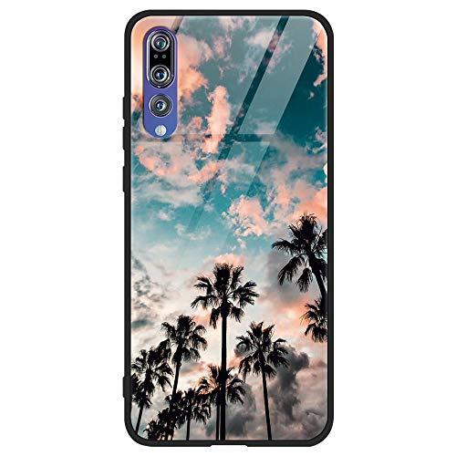 ZhuoFan Funda Huawei P20 Pro, Cárcasa Silicona 3D Cristal Templado con Dibujos Design Antigolpes de Protector Case Cover Piel Fundas para Movil Huawei P20Pro 6,1 Pulgadas 2018, Coco