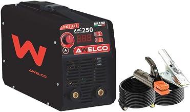 Saldatrice inverter 200 a amp mod. arc 250 + casco elmetto di protezione awelco PR3436