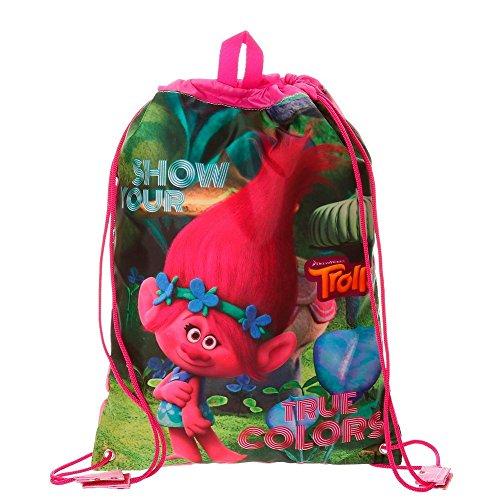 Trolls True Colors Mochila Infantil, 40 cm, 1.2 litros, Multicolor