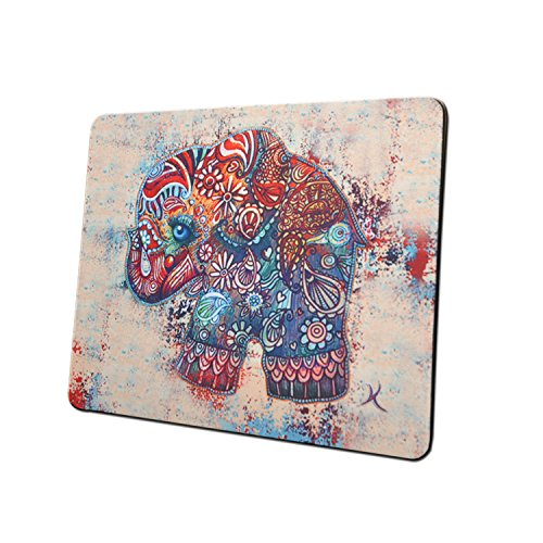 Gaming Mouse Pad Mat, 8 inch Non-Slip Rubber Mousepad , Silky Smooth Surface Edges for Computer ,Laptop& PC, 8 × 9 x 0.1 inches Rectangle,Cute Elephant