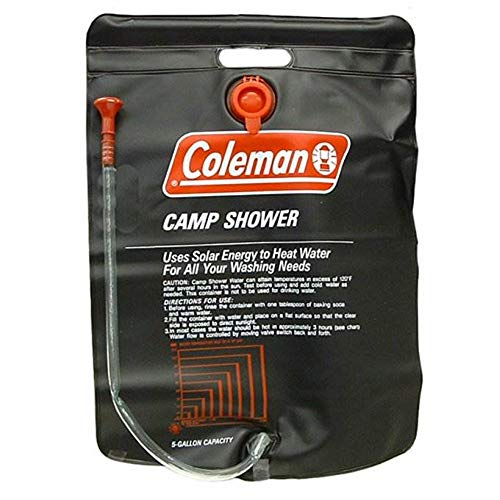Coleman (2) 5 Gallon PVC Solar Heated Water Camp Showers - with On/Off Valve