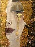 MKAN Rompecabezas para Adultos De 1000 Piezas, Lágrimas De Oro De Gustav Klimt, Juego Creativo Clásico para Niños, Juguetes De Arte 50X75 Cm
