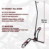 Dinsam Top Vertical Bike Stand for Floor, Indoor Bike Mount Rack - Fits Nearly All Bikes & Frees 4 Feet of Floor Space