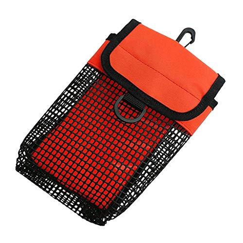 perfeclan Scuba Dive Reel & SMB Safety Marker Pochette Et Pince pour Sac De Transport en Tissu - Orange, comme Décrit
