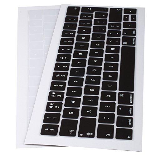 Lilware siliconen toetsenbord cover voor nieuwe MacBook Pro 13/15/17 (Release 2016 jaar) QWERTY (UK lay-out) zwart/transparant