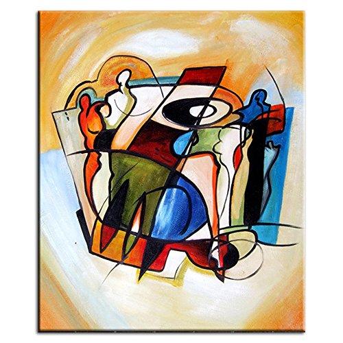 IPLST@ Astratta moderna persone strumento musicale della pittura a olio su tela, contemporanea parete Immagine Murales per il salone, Decorazione Camera -24x32inch (Nessuna cornice, senza barella)
