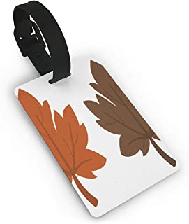 Luggage Tags Brown Leaf Clipart Airplane Name Tag Holder Labels