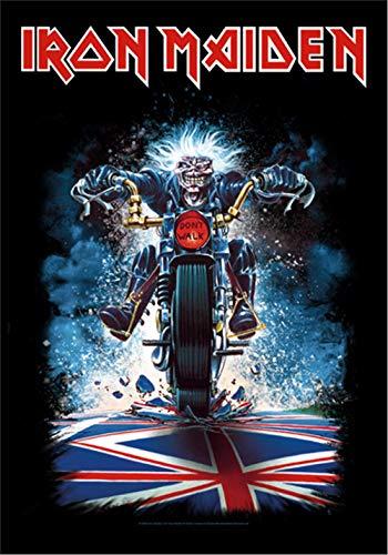 Global Merchandising Iron Maiden Flagge Fahne Eddie Motorcycle Bike POSTERFLAGGE Stoff Poster Flag
