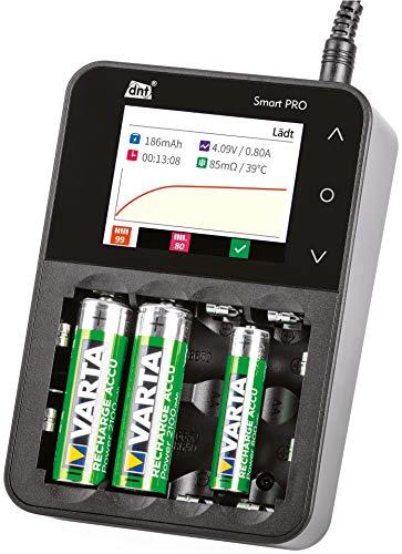 DNT Akku-Ladegerät Smart PRO, mit Farbdisplay und komfortabler Touch-Bedienung für nahezu alle Rundzellen-Akkus