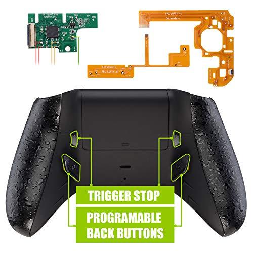 eXtremeRate Programmierbares Remap&Trigger Stop Kit für Xbox One S/X Controller(Mod-Chips,Neue Rückseite Gehäuse,Seitenschienen,Knöpfe,Triggersperre für Xbox One S X-Controller 1708)-Schwarz
