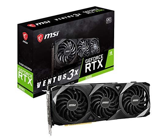 MSI GeForce RTX 3090 VENTUS 3X 24G OC Scheda Video Gaming TORX Fan 3.0, 24GB GDDR6X, 384 bit, PCI Express Gen 4, DP v1.4a, HDMI 2.1, Zero Frozr, ideale per 4K, Ray Tracing, supporto Afterburner
