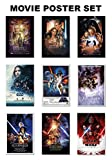 POSTER STOP ONLINE Star Wars Episode I, II, III, IV, V, VI, VII, VIII & Rogue One - Movie Poster Set (9 Individual Full Size Movie Posters - Version 2) (Size 24' x 36' Each)