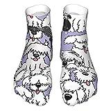 Calcetines de corte bajo que absorben la humedad, calcetines de tobillo deportivos casuales para hombres divertidos calcetines de vestir P-Old English Sheepdogs novedad calcetines de tripulación