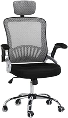 Multifunctional Computer Chair Computer Chair Ergonomics Office Chair Seat Back Adjustable Lifting Swivel Chair Mesh Fabric High-Back Chair-Orange Home Chair (Color : Grey)