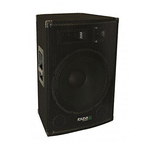 Ibiza Disco15Amp Full-Range-Lautsprecher, Schwarz
