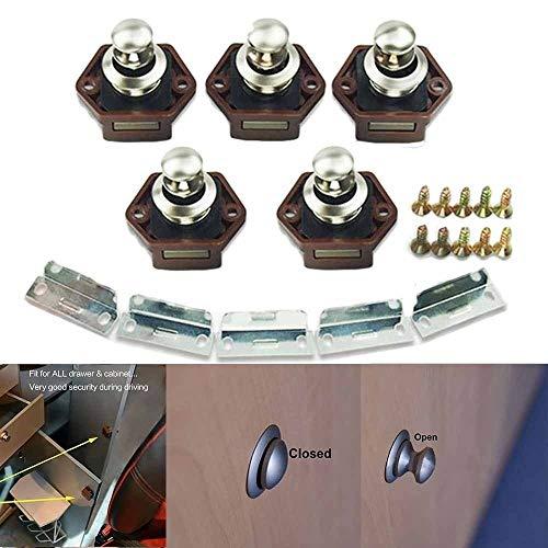 BBalm Mini Brown Push Button Catch Schublade Schrank Türknauf Schloss Caravan Motor Camper