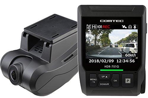 コムテック ドライブレコーダー HDR-751G 200万画素 Full HD 日本製&3年保証 常時録画 衝撃録画 GPS レーダ...