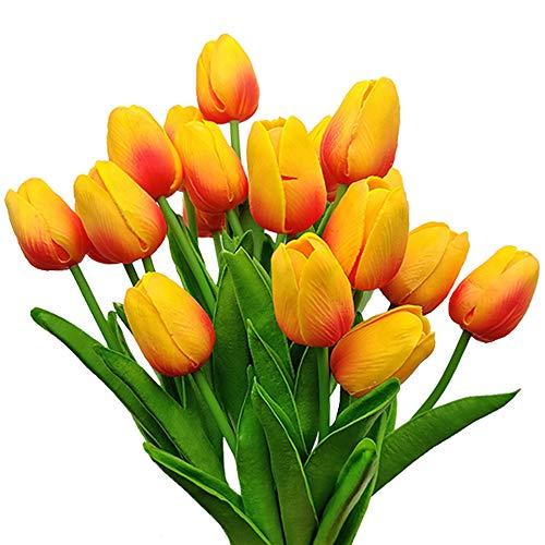 Aisamco 20 Piezas Tulipanes Artificiales Tulipanes Real