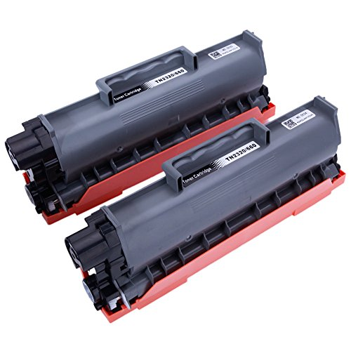 Replacement for Brother TN660 TN-660 TN2320 TN-2320 Toner Cartridge (Black, High Yield, 2-Pack) -  OASIS FOX, OD-1