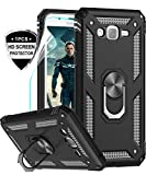 LeYi Galaxy J7 Case, Galaxy J7 2015/ SM-J700 Case with HD Screen Protector, [Military Grade] Rotating Holder Kickstand Full-Body Protective Phone Cover Case for Samsung Galaxy J7 2015, JSFS