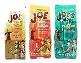 Trader Joes Coffee Ground Variety Pack of 3 Flavors - Light Roast, Medium Roast, Dark Roast - 41 oz Total - 100% Arabica Ground Coffee