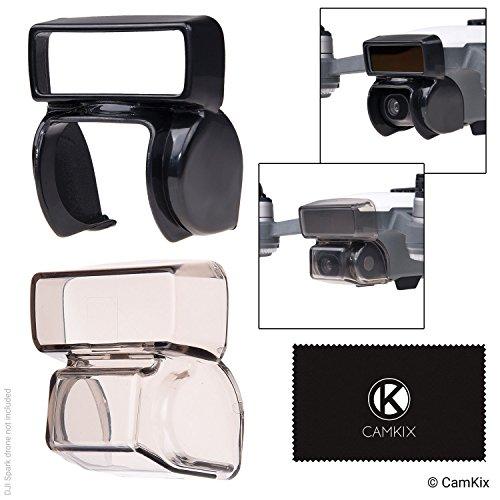 CamKix Sonnenblende + 2in1 Gimbal-Sperre und Kamerablende Kompatibel mit DJI Spark - Sperrt die Gimbalposition - Schützt die Kamera vor Stößen - Sonnenblende blockiert übermäßiges Sonnenlicht