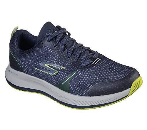Skechers Men's Go Run Pulse-Performance Running & Walking Shoe Sneaker, Navy/Lime, 11 D US