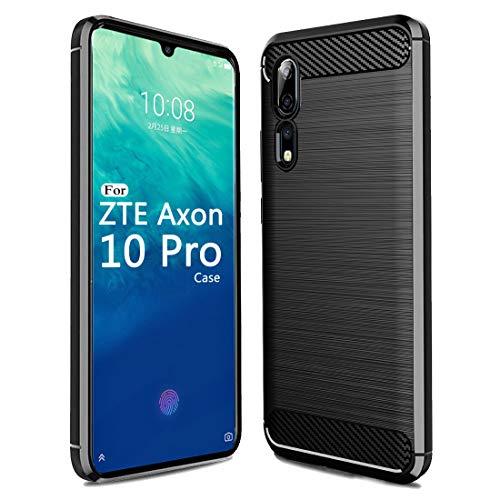 Sucnakp Zte Axon 10 Pro 5G Case,Axon 10 Pro 5G Case TPU Shock Absorption Technology Raised Bezels Protective for Zte Axon 10 Pro 5G(Black)