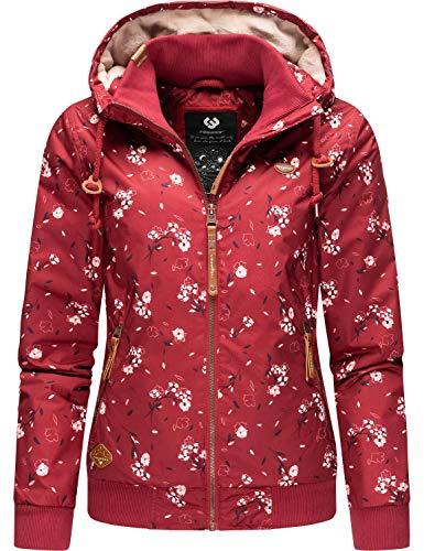 Ragwear Damen Winterjacke Outdoorjacke mit Kapuze Nuggie Rot20 Gr. M