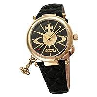 [ヴィヴィアンウエストウッド]Vivienne Westwood 腕時計 オーブ ゴールド 黒革 クォーツ レディース VV006BKGD レディース [並行輸入品]