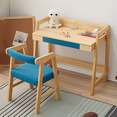Desk Sets Grupo de Asientos y Escritorio para Niños Pupitre Infantil con Cajón, Mesa de Lectura para Infantil con Altura Ajustable (Naranja, Morado, Verde)