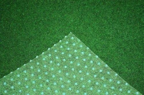 Rasenteppich Kunstrasen Premium grün weich Meterware, verschiedene Größen, mit Drainage-Noppen, wasserdurchlässig (400x450 cm)