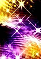 igsticker ポスター ウォールステッカー シール式ステッカー 飾り 1030×1456㎜ B0 写真 フォト 壁 インテリア おしゃれ 剥がせる wall sticker poster 007657 クール チェック きらきら 黄色 紫