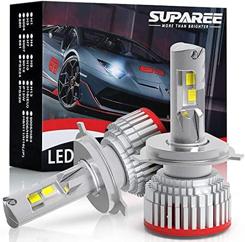 業界最高輝度SUPAREE h4 led ヘッドライト HI LO切替 新車検対応 6500K 18000LM カットライト 12V 24車対応 ファン付き ハイパワー LEDバルブ